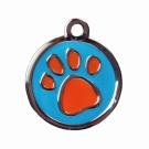 "BowWowMeow Hundemarke 'Design', ""Pfote"", Hellblau, groß"