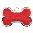 "BowWowMeow Hundemarke 'Fashion', ""Knochen"", Rot, groß"