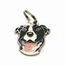 """Handbemalte Hundemarke, """"American Staffordshire Terrier schwarz/weiß"""""""