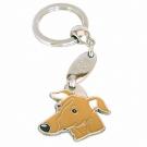 """Handbemalter Schlüsselanhänger, """"Windhund braun"""""""