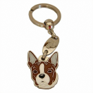 """Handbemalter Schlüsselanhänger, """"Boston Terrier gestromt"""""""