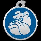 """Misstoro Hundemarke mit Emaille, """"Bulldogge"""", Blau, groß"""