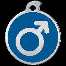"""Misstoro Tiermarke mit Emaille, """"Männlich"""", Blau, klein"""
