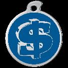 """Misstoro Tiermarke mit Emaille, """"Dollar"""", Blau, klein"""