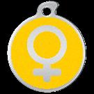 """Misstoro Tiermarke mit Emaille, """"Weiblich"""", Gelb, klein"""