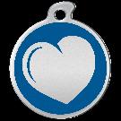"""Misstoro Tiermarke mit Emaille, """"Herz"""", Blau, klein"""