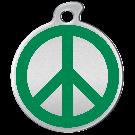 """Misstoro Tiermarke mit Emaille, """"Peace"""", Grün, klein"""
