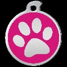 """Misstoro Hundemarke mit Emaille, """"Pfote"""", Pink, medium"""