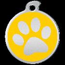 """Misstoro Hundemarke mit Emaille, """"Pfote"""", Gelb, groß"""