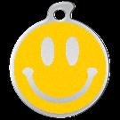 """Misstoro Hundemarke mit Emaille, """"Smiley"""", Gelb, groß"""