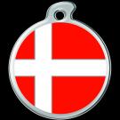"""Misstoro Tiermarke mit Emaille, """"Dänemark"""", klein"""