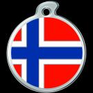 """Misstoro Tiermarke mit Emaille, """"Norwegen"""", klein"""
