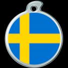 """Misstoro Tiermarke mit Emaille, """"Schweden"""", klein"""
