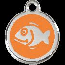 """RedDingo Tiermarke mit Emaille, """"Fisch"""", Hellorange, klein"""