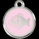 """RedDingo Tiermarke mit Emaille, """"Fisch"""", Rosa, klein"""