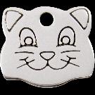 """RedDingo Tiermarke aus Edelstahl, """"Katzenkopf"""", klein"""