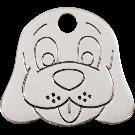"RedDingo Tiermarke aus Edelstahl, ""Hundekopf"", klein"