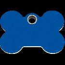 """RedDingo Tiermarke aus Kunststoff, """"Knochen"""", Blau, klein"""