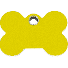 "RedDingo Hundemarke aus Kunststoff, ""Knochen"", Gelb, medium"