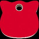 """RedDingo Tiermarke aus Kunststoff, """"Katze"""", Rot, klein"""