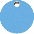 """RedDingo Hundemarke aus Kunststoff, """"Kreis"""", Hellblau, groß"""