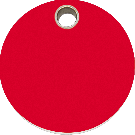 "RedDingo Hundemarke aus Kunststoff, ""Kreis"", Rot, medium"