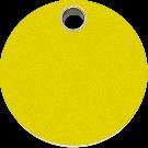 """RedDingo Hundemarke aus Kunststoff, """"Kreis"""", Gelb, medium"""