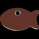 """RedDingo Tiermarke aus Kunststoff, """"Fisch"""", Braun, klein"""