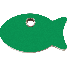 """RedDingo Tiermarke aus Kunststoff, """"Fisch"""", Grün, klein"""