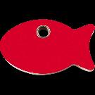 """RedDingo Tiermarke aus Kunststoff, """"Fisch"""", Rot, klein"""