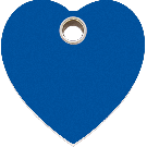 """RedDingo Tiermarke aus Kunststoff, """"Herz"""", Blau, klein"""