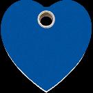"RedDingo Hundemarke aus Kunststoff, ""Herz"", Blau, medium"