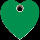 "RedDingo Hundemarke aus Kunststoff, ""Herz"", Grün, groß"