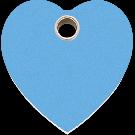 "RedDingo Hundemarke aus Kunststoff, ""Herz"", Hellblau, groß"