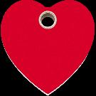 "RedDingo Hundemarke aus Kunststoff, ""Herz"", Rot, groß"