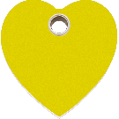 """RedDingo Tiermarke aus Kunststoff, """"Herz"""", Gelb, klein"""