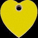 "RedDingo Hundemarke aus Kunststoff, ""Herz"", Gelb, medium"