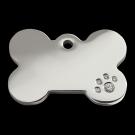 """RedDingo Tiermarke mit Swarovski-Kristallen, """"Knochen"""", klein"""