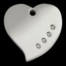 """RedDingo Tiermarke mit Swarovski-Kristallen, """"Herz"""", klein"""