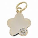 "Tagiffany Hundemarke, vergoldet 'My Precious', ""Blume"", Gold, medium/groß"