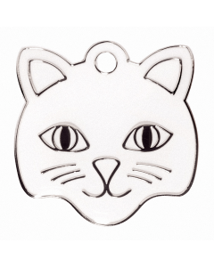 "BowWowMeow Tiermarke 'Fashion', ""Katzenkopf"", Weiß, klein"