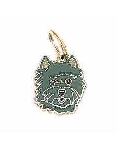 """Handbemalte Hundemarke, """"Cairn Terrier dunkelgrau"""""""
