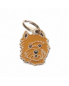 """Handbemalte Hundemarke, """"Cairn Terrier rot"""""""