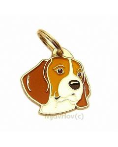 "Handbemalte Hundemarke, ""Beagle"""
