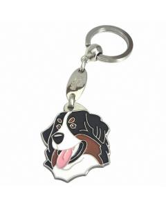 """Handbemalter Schlüsselanhänger, """"Berner Sennenhund"""""""