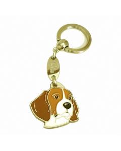 """Handbemalter Schlüsselanhänger, """"Beagle"""""""