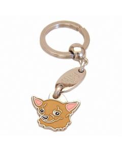 """Handbemalter Schlüsselanhänger, """"Chihuahua braun"""""""