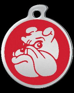 """Misstoro Hundemarke mit Emaille, """"Bulldogge"""", Rot, medium"""