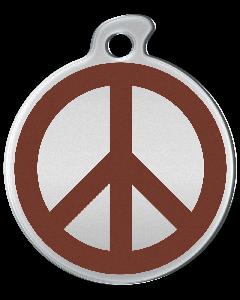 """Misstoro Tiermarke mit Emaille, """"Peace"""", Braun, klein"""