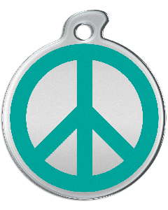 """Misstoro Tiermarke mit Emaille, """"Peace"""", Türkis, klein"""